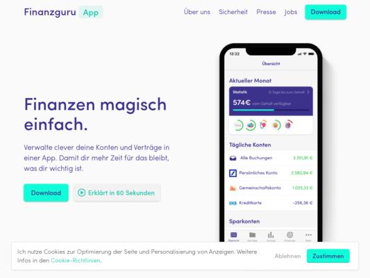 Finanzguru Website