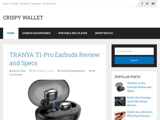 Crispy Wallet Website