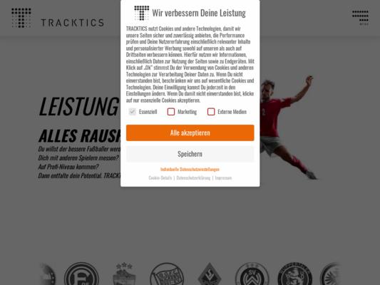 Tracktics Website
