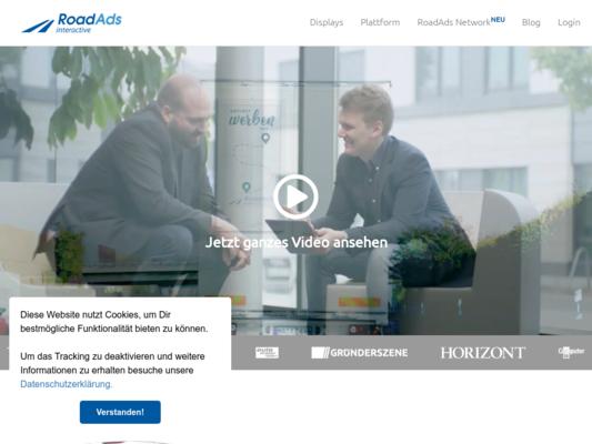 RoadAds interactive Website