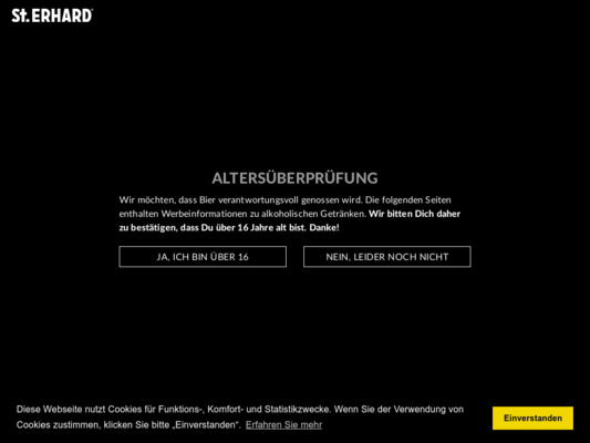 St. ERHARD Website