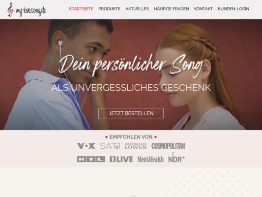 my-lovesong.de Website