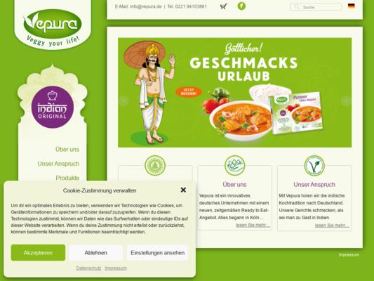 Vepura – Veggy your life! Website