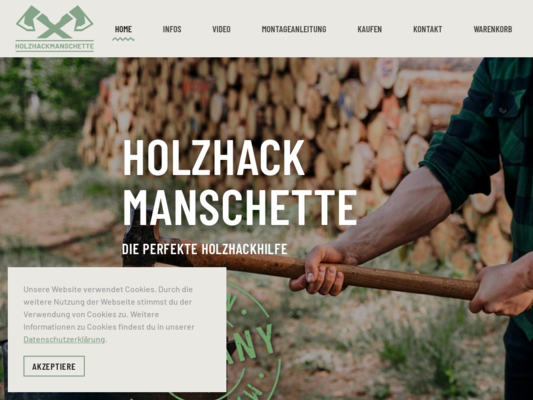 Holzhackhilfe Website