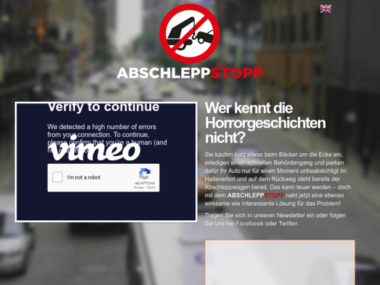 AbschleppStopp Website