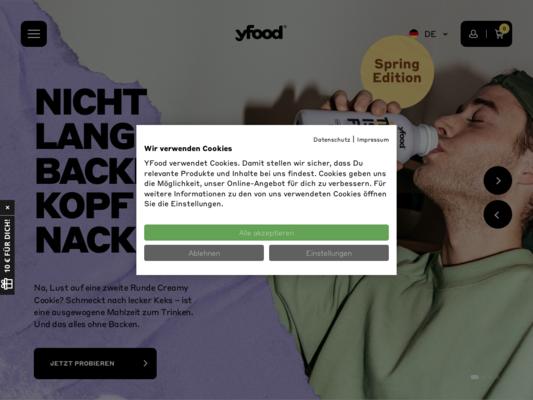 YFood Website