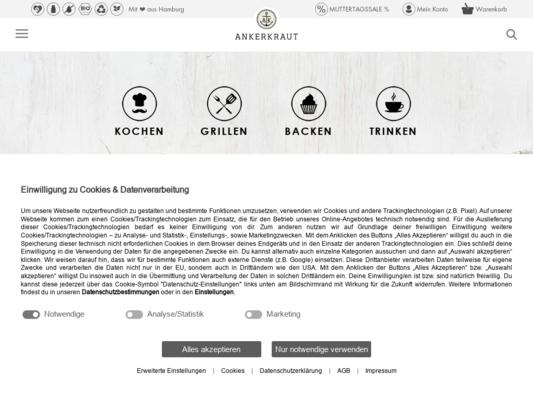 Ankerkraut Website