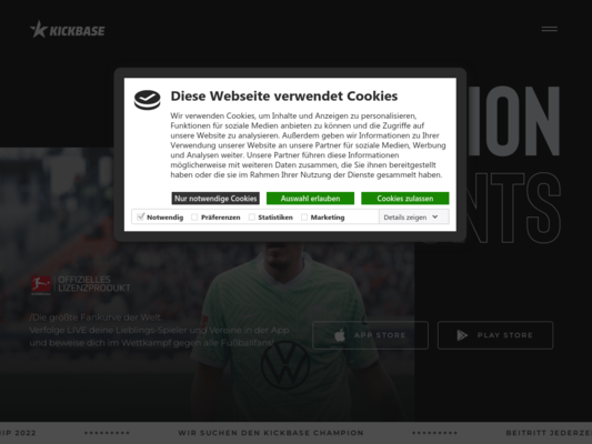 Kickbase Website