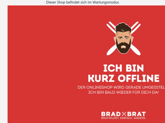 Brad Brat Wurstimbiss Website
