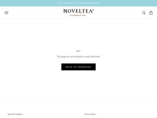 NOVELTEA Website