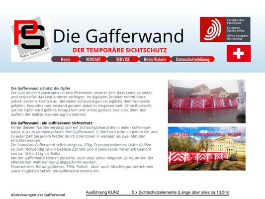 Gafferwand Website