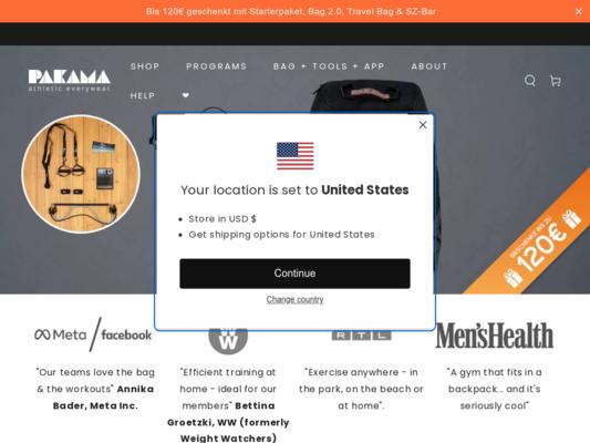PAKAMA Sports Bag Website
