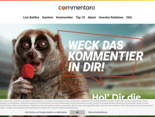 Commentaro Website