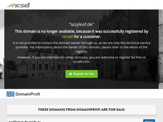 Lazy Leaf Website