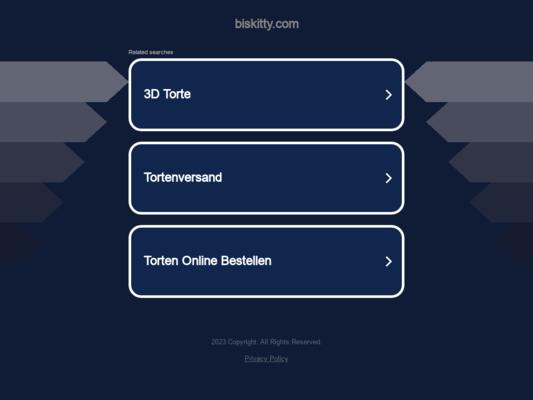 Biskitty Website