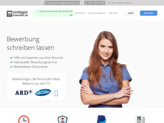richtiggutbewerben.de Website