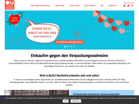 Original Unverpackt Website