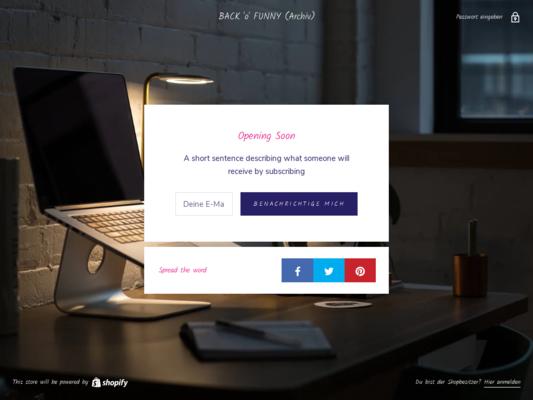 BACK'O'FUNNY Website