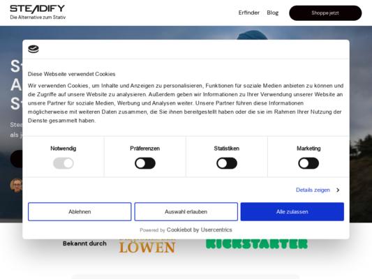 Steadify Website