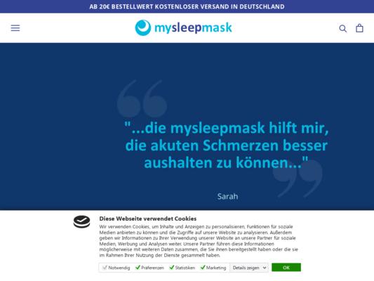 mysleepmask Website