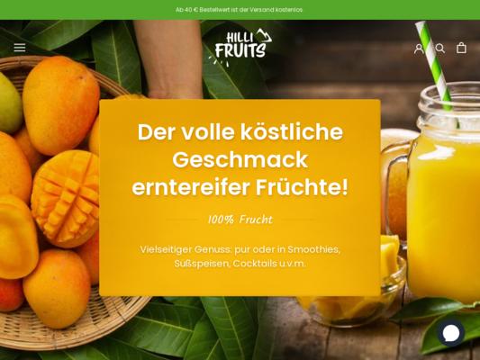 Hilli Fruits Website