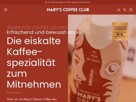 Mary's Dream Coffee Website