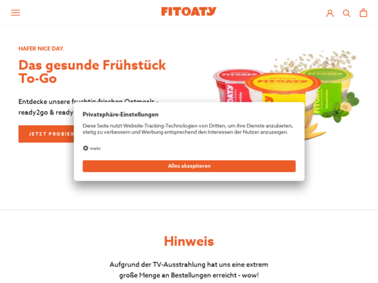 FitOaty Website