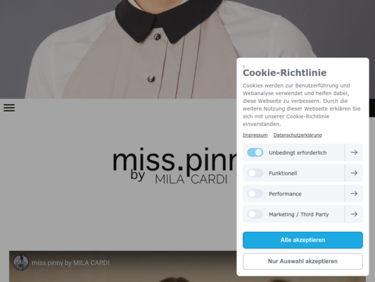 miss.pinny Website