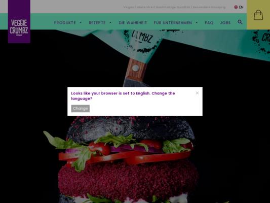 VEGGIE CRUMBZ Website