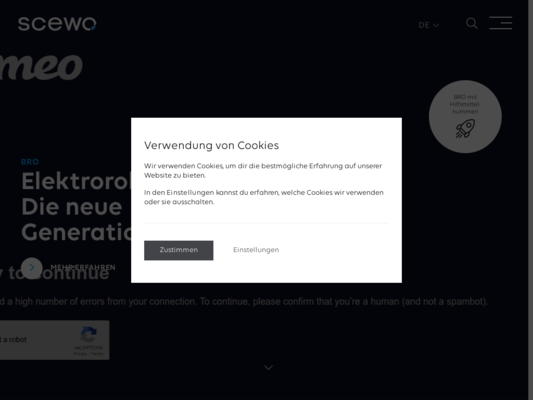Scewo BRO Website